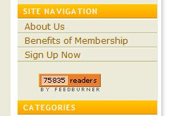 One of my feedburner images showing over 75k subscribers