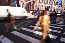 a PSA can change behavior such as making people properly cross the street