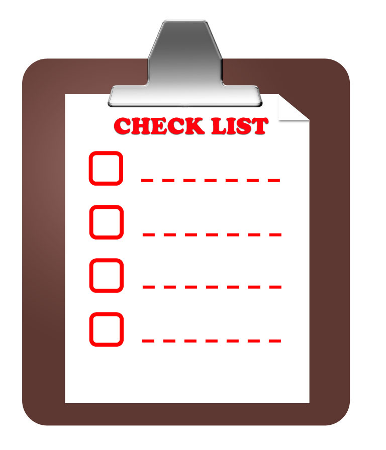 create a check list for your onsite SEO